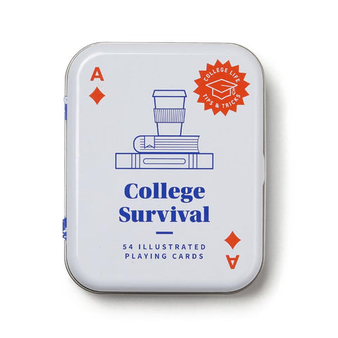 College Survival Playing Cards