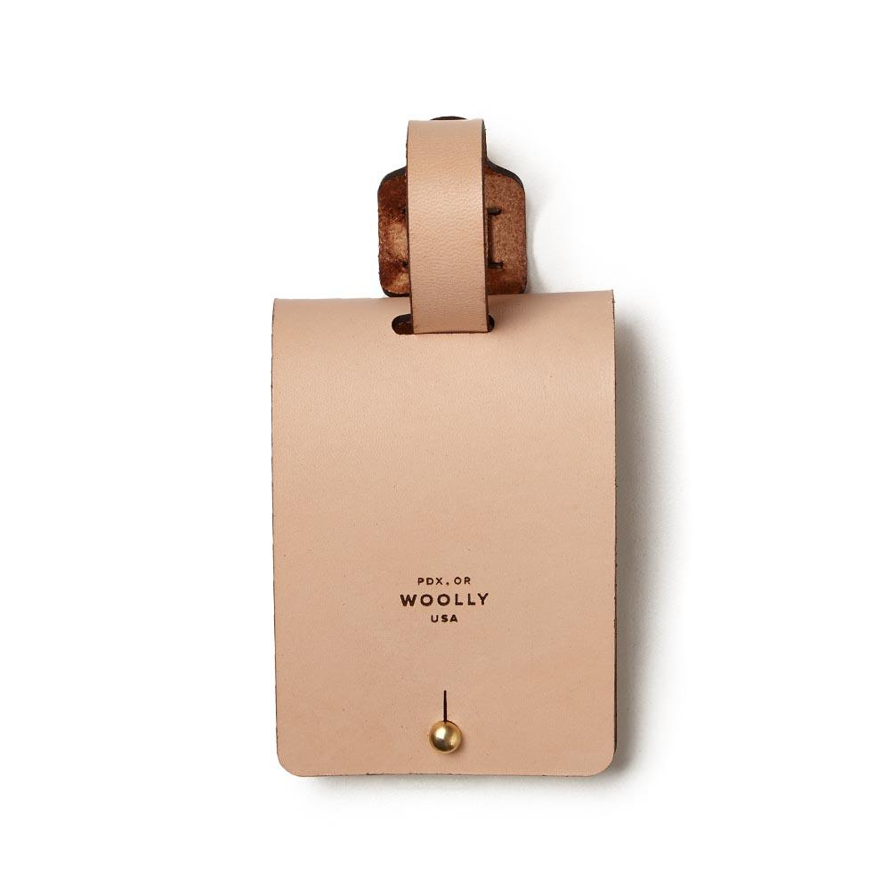 05b3543b01f8 Natural Leather Luggage Tag