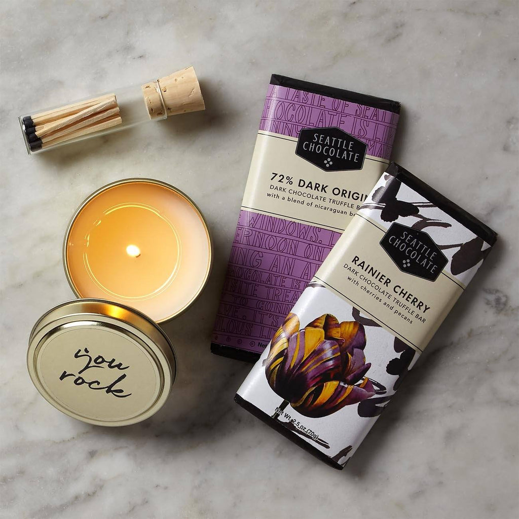 Seattle Chocolates And Candle Gift Set