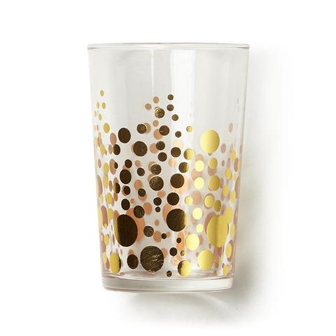 Zodax Gold Dot Glass, 7 oz