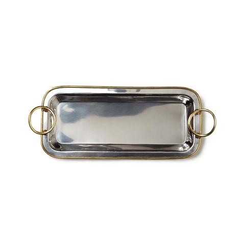 Polished Nickel & Gold Vanity Tray