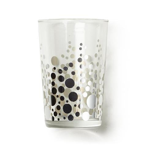 Zodax Silver Dot Glass, 7 oz