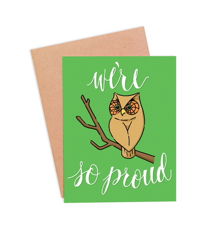 Owl So Proud Congratulations Card - PaperFreckles