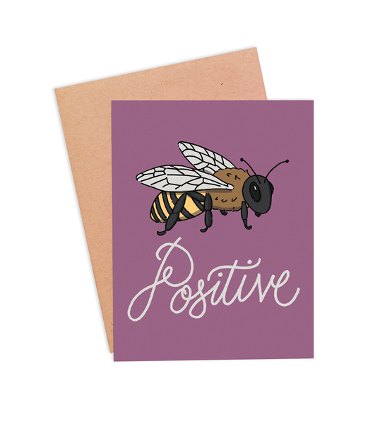 Bee Positive Any Occasion Card - PaperFreckles
