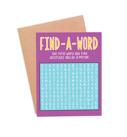 Find-A-Word Any Occasion Card - PaperFreckles