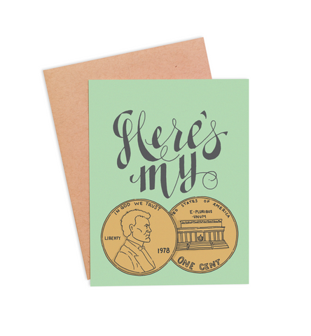 My Two Cents Card - PaperFreckles