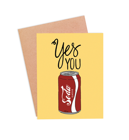 Yes You Can Encouragement Card - PaperFreckles
