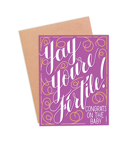 Yay You're Fertile! Pregnancy Card - PaperFreckles