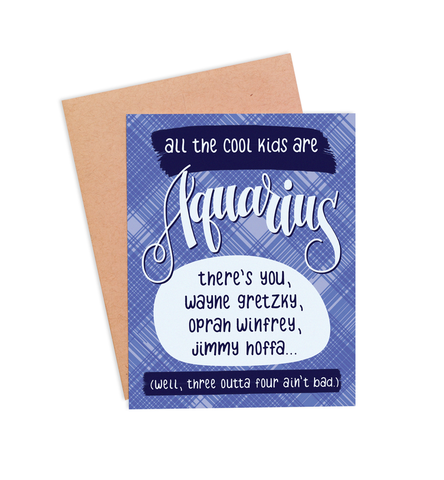Aquarius Birthday Card - PaperFreckles