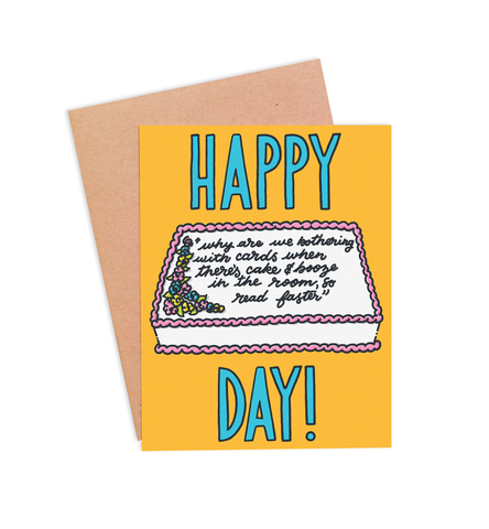 Cake & Booze Birthday Card - PaperFreckles