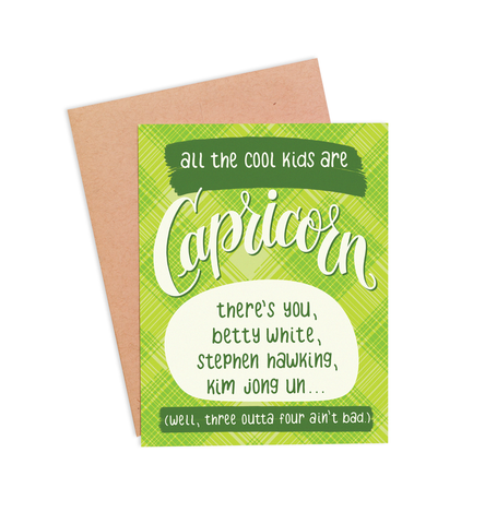 Capricorn Birthday Card - PaperFreckles