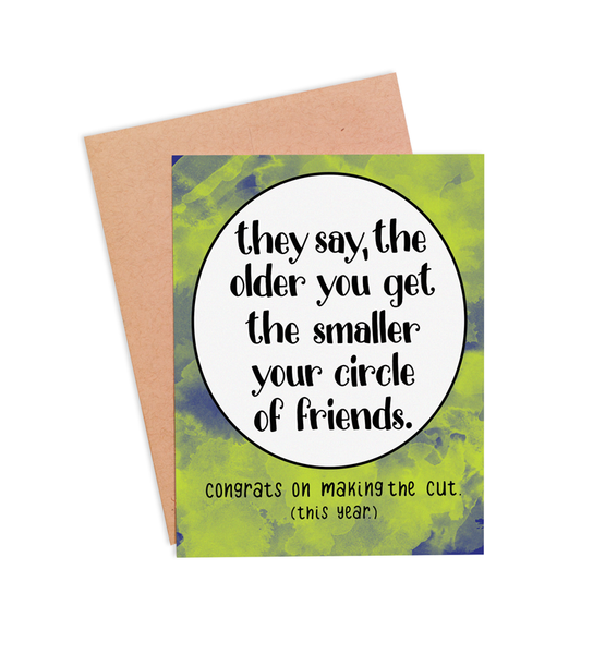 Circle of Friends Birthday Card - PaperFreckles