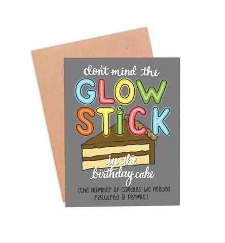 Glow Stick Card - PaperFreckles