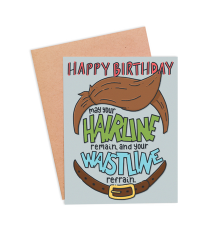 Hairline & Waistline Card - PaperFreckles