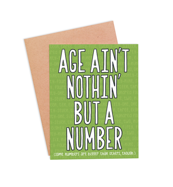 Age Ain't Nothin' But A Number Birthday Card - PaperFreckles