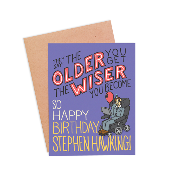 Funny Stephen Hawking Birthday Card - PaperFreckles