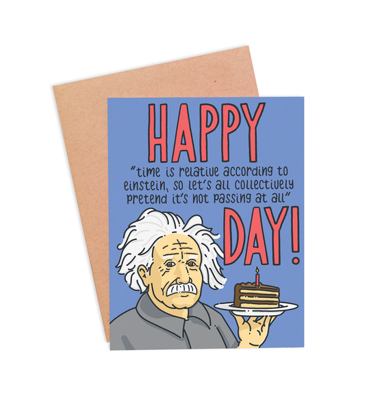 Time Is Relative Birthday Card - PaperFreckles