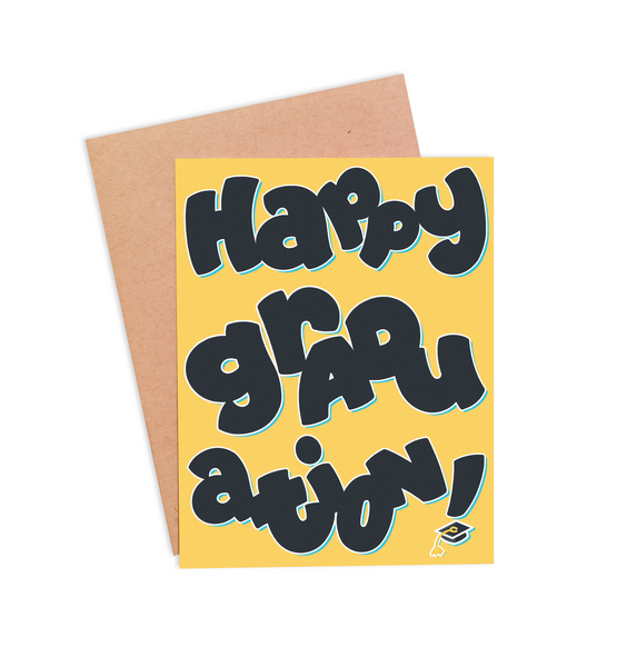 Happy Graduation Card - PaperFreckles