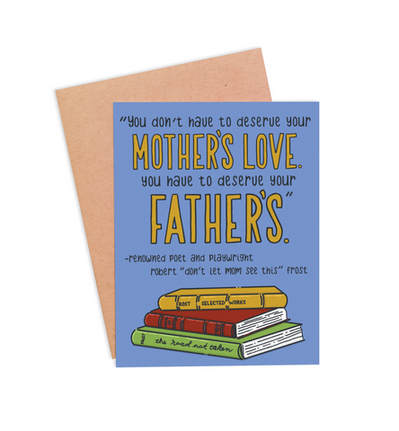 Robert Frost Father's Day Card - PaperFreckles