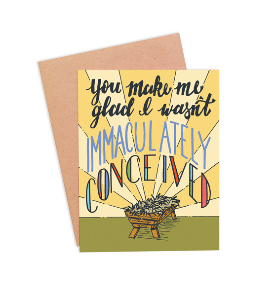 Immaculately Conceived Father's Day Card - PaperFreckles