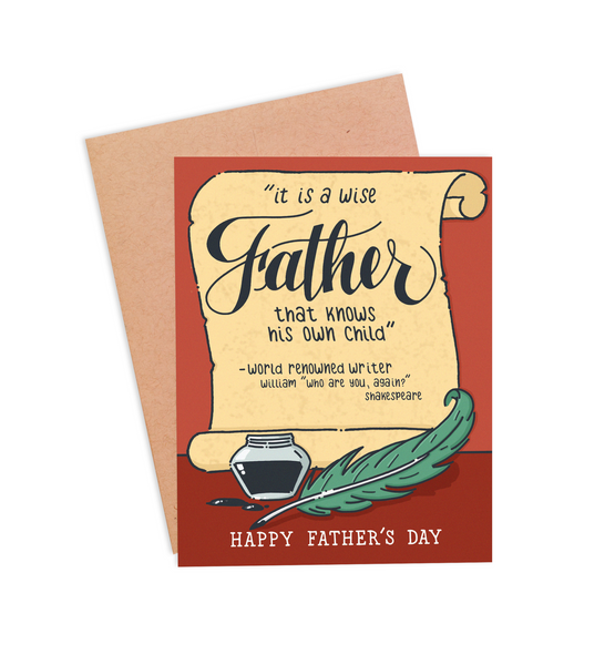 Shakespeare Father's Day Card - PaperFreckles