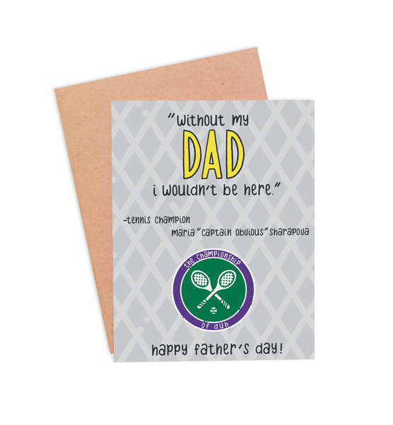 Sharapova Father's Day Card - PaperFreckles