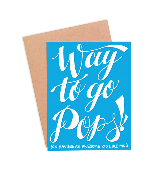 Way to go Pops! Father's Day Card - PaperFreckles