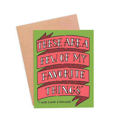 Favorite Things Christmas Card - PaperFreckles