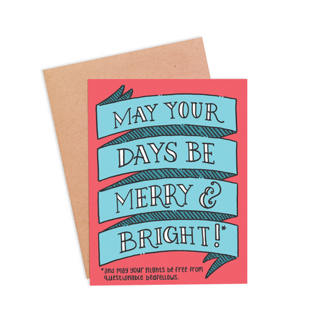 Merry & Bright Christmas Card - PaperFreckles