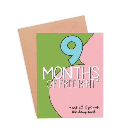 Free Rent Mother's Day Card - PaperFreckles