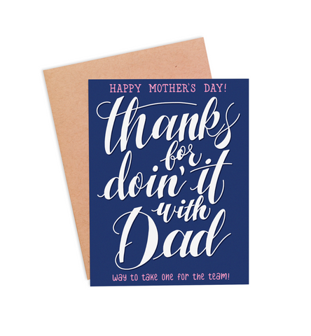 Doin' It With Dad Mother's Day Card - PaperFreckles
