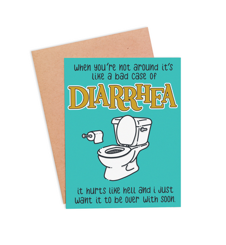 Diarrhea Valentine's Card - PaperFreckles