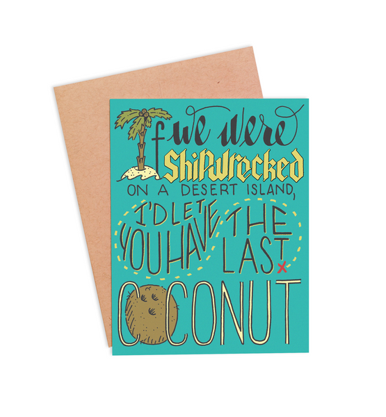 Last Coconut Valentine's Card - PaperFreckles