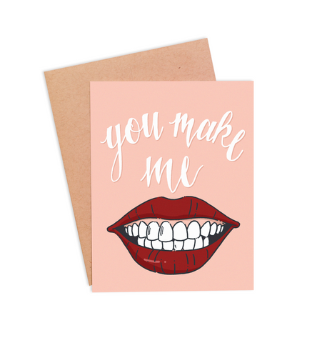 You Make Me Smile Valentine's Card - PaperFreckles