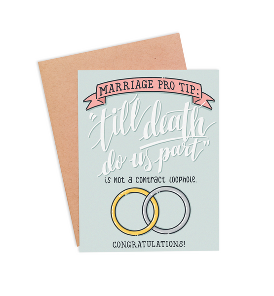 Contract Loophole Wedding Card - PaperFreckles