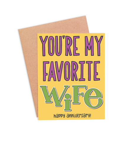 Favorite Wife Anniversary Card - PaperFreckles
