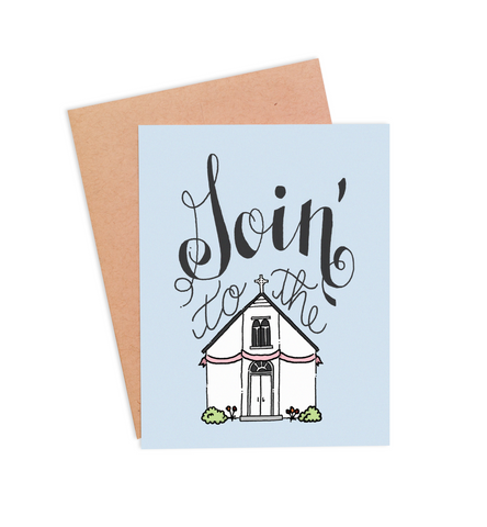 Goin' To The Chapel Wedding Card - PaperFreckles