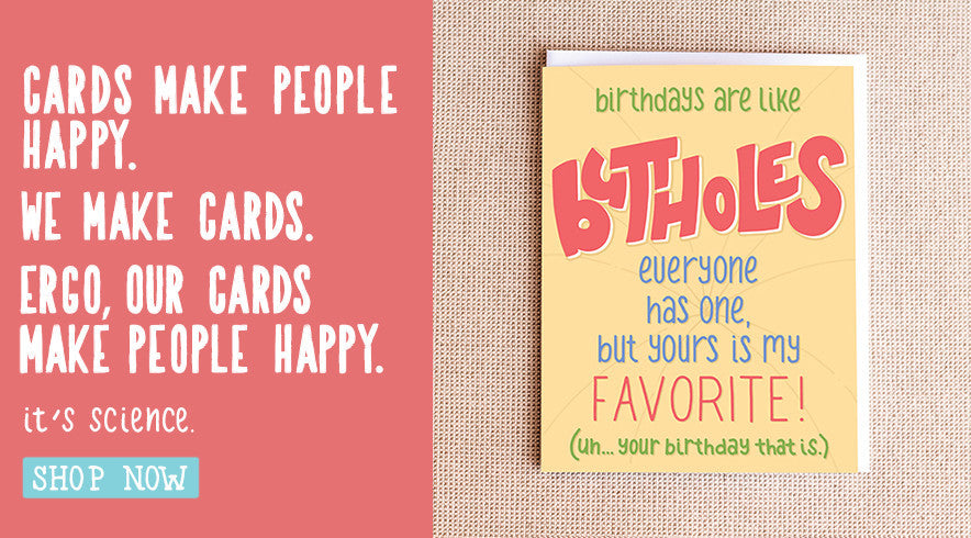 Funny Butthole Birthday Card