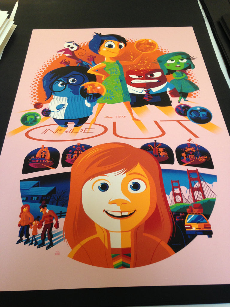 Cyclops Print Works Print #32V3: Inside Out Bing Bong Variant Edition By Tom Whalen