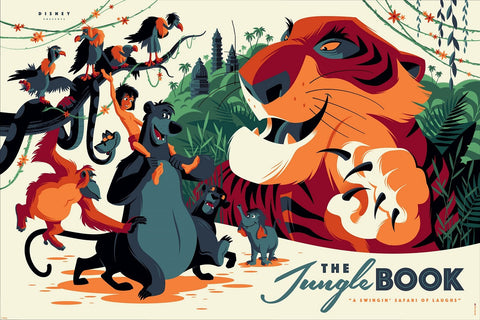 Cyclops Print Works Print #27V: The Jungle Book Variant Edition by Tom Whalen