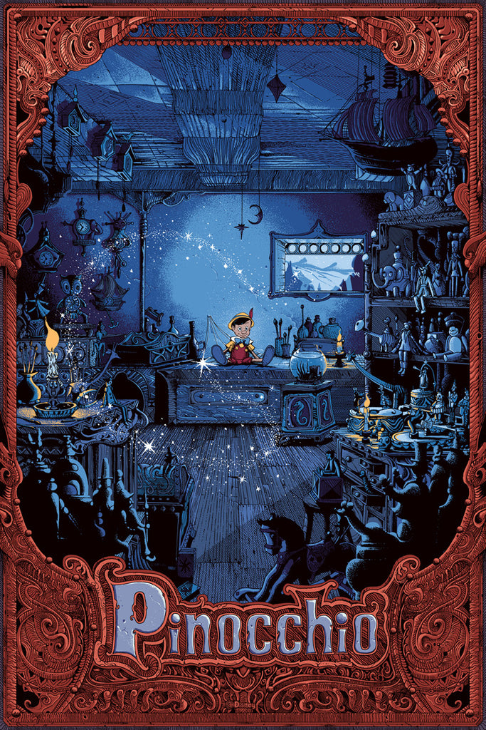 Cyclops Print Works Print #15V: Pinocchio Variant Edition by Kilian Eng