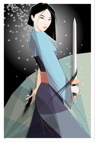 Cyclops Print Works Print #09A: Mulan Art Print Edition by Craig Drake
