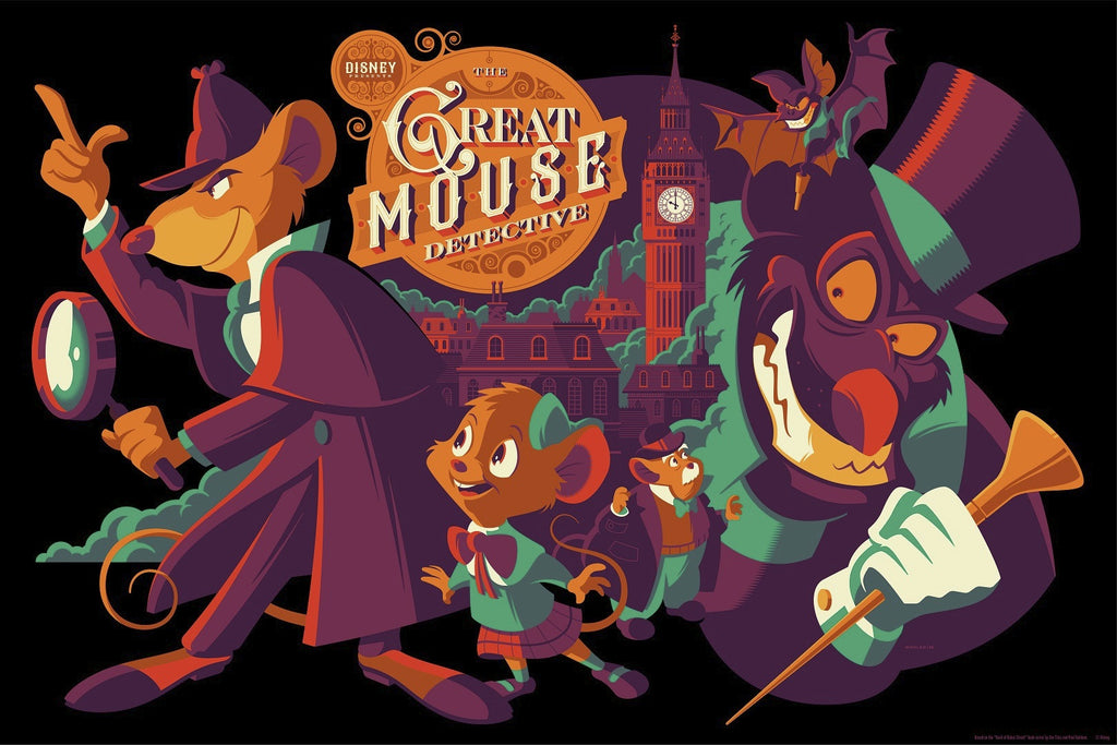 Cyclops Print Works Print #50V: The Great Mouse Detective Variant Edition by Tom Whalen