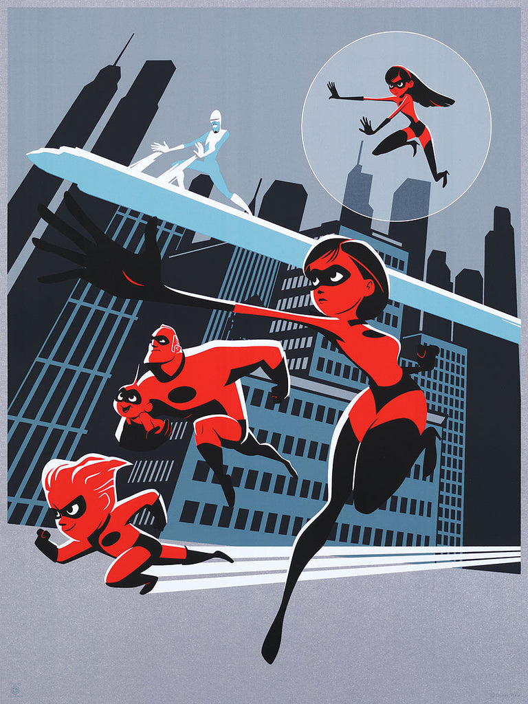 "Cyclops Print Works #85 – by Rich Tuzon ""Incredibles 2"""