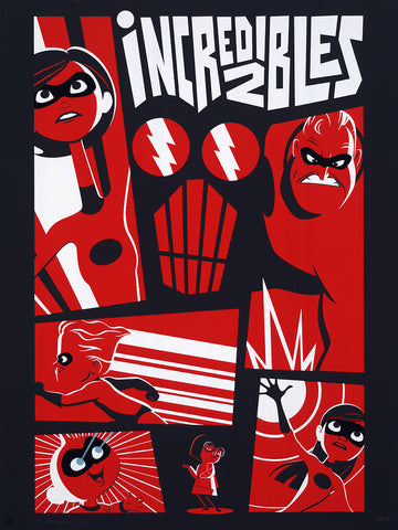 "Cyclops Print Works #78 – by Bryan Mon ""Incredibles 2"""