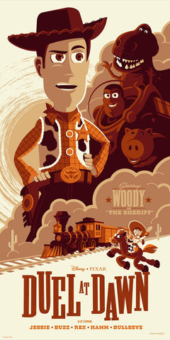 Cyclops Print Works Print #30: Duel at Dawn (Toy Story 3) by Tom Whalen