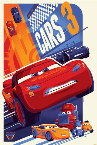 Cyclops Print Works Print #65: Cars 3 by Tom Whalen