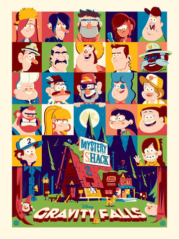 Cyclops Print Works X Mondo Collaboration Print #14V: Gravity Falls Variant Edition by Dave Perillo