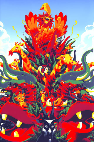 Cyclops Print Works X Mondo Collaboration Print #24A: The Lion King Art Print Edition by Matt Taylor
