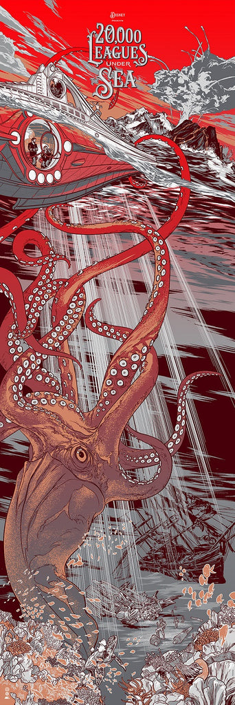 Cyclops Print Works X Mondo Collaboration Print #29V: 20,000 Leagues Under the Sea Variant Edition by Martin Ansin